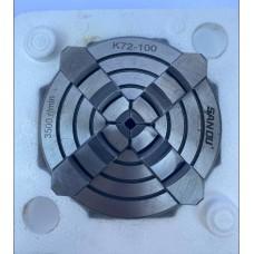 Патрон токарный 100мм четырехкулачковый с независимыми кулачками